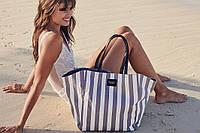 Пляжная сумка Victoria's Secret stripes grey-white, фото 1