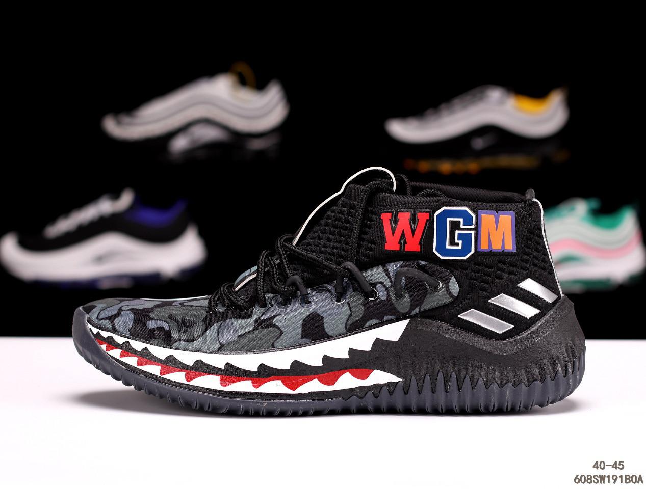 кроссовки Adidas Dame 4 X Bape адидас мужские женские 608sw191boa