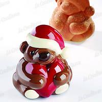 Полиэтиленовая форма для шоколада Рождественский медведь с сердцем PAVONI KT166