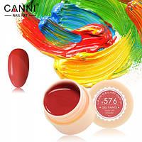 Гель-краска Canni №576 (классическая красная) 5 мл