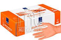 Перчатки нитриловые без талька Abena Orange 100 шт., оранжевые M