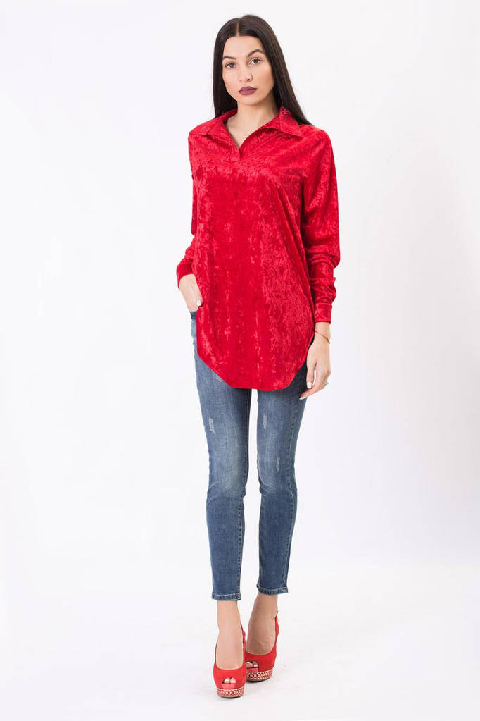 Красная рубашка JES