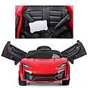 Детский электоромобиль суперкар красный на EVA колесах с MP3 и пультом T-7623 EVA RED деткам 3-8 лет, фото 2