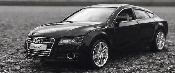 Коллекционная машинка Audi A7 черная металлическая модель в масштабе 1:32