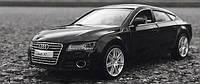 Коллекционная машинка Audi A7 черная металлическая модель в масштабе 1:32, фото 1