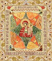 Схема для вишивки бісером Ікона Божої Матері