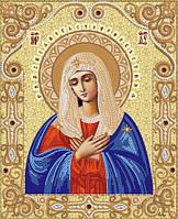 Схема для вишивки бісером Ікона Божої Матері   Умиление 6e6f7697756f6