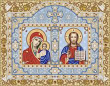РВК-3-025. Схема для вишивки бісером Богородиця Казанська і Христос Спаситель.