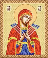 РИП-3-013 Схема для вишивки бісером Ікона Божої Матері Семистрільна. 6049128f0ec81