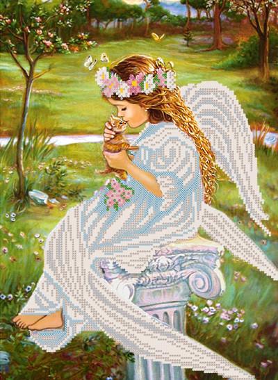 РКП-329. Схема  для вишивки бісером Поцілунок янгола.