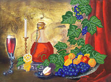РКП-2-017 Схема для вишивки бісером Натюрморт з вином.