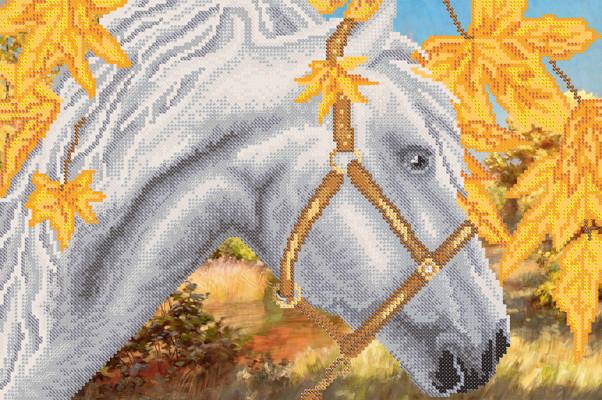 РКП-621 Схема для вишивки бісером Білий кінь.