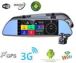 Зеркало видеорегистратор  E570  7 дюймов Android  с функциями GPS,Wi-Fi, 3G!