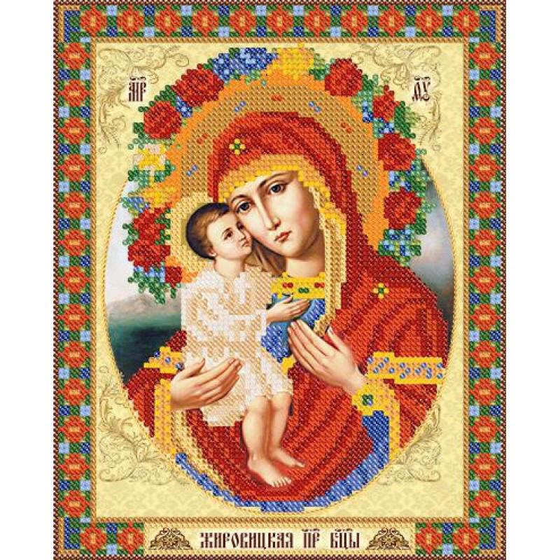 РИП-035 Схема для вишивки бісером Жировицкая икона Божией Матери.