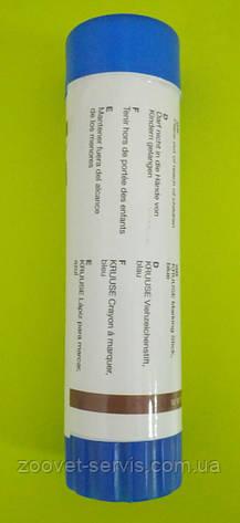 Маркер-карандаш для маркировки животных Kruuse синий, фото 2