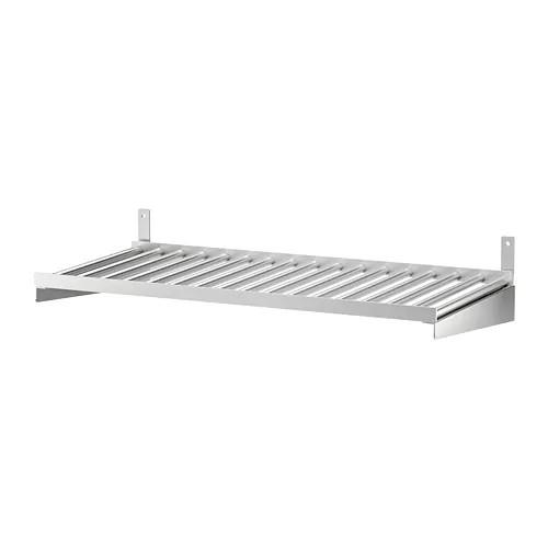 Полка IKEA KUNGSFORS 60 см нержавеющая сталь 503.349.25
