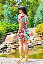 Короткое женское платье с ярким цветочным принтом (0878 svt), фото 3