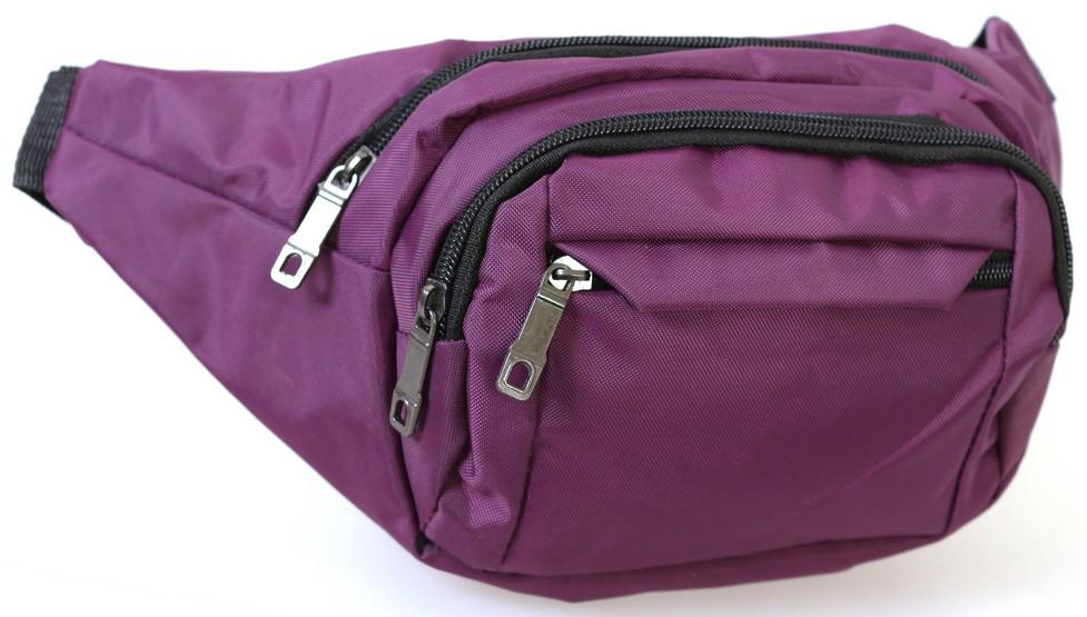 Сумка текстильная поясная Q003-7Purp Фиолетовая 90-116 см