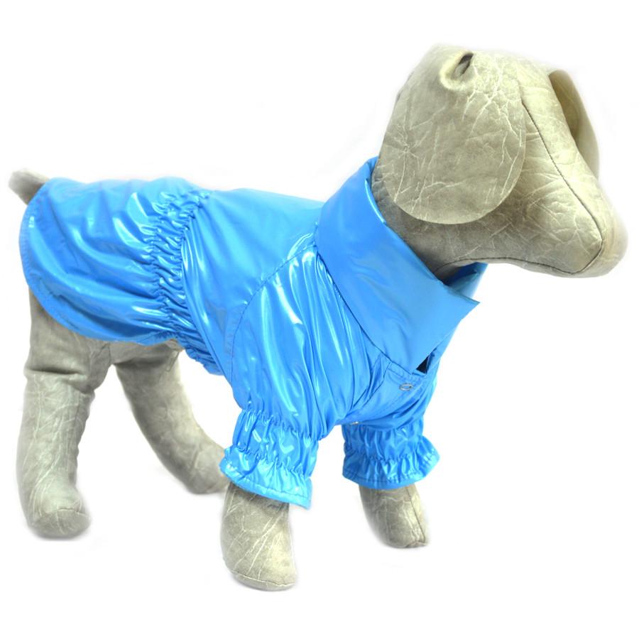 Плащ для собак голубой