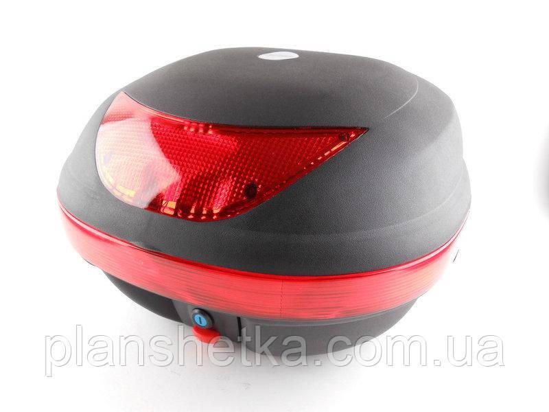 Кофр для мотоцикла (багажник) HF-997  черный мат