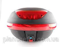Кофр для мотоцикла (багажник) HF-997  черный мат , фото 2
