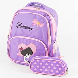 Школьный/прогулочный рюкзак для девочек - сиреневый - 11-889