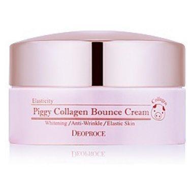 Крем для лица со свиным коллагеном DEOPROCE Piggy Collagen Bounce Cream, 100 мл