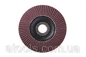 Круг лепестковый торцевой КЛТ VATZO T27 125x22 электрокорунд Р100