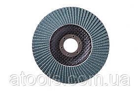 Круг лепестковый торцевой КЛТ VATZO T27 125x22 циркониевый Р120
