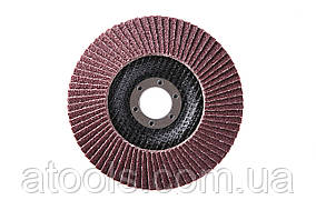 Круг лепестковый торцевой КЛТ VATZO T29 125x22 электрокорунд Р100