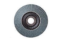 Круг лепестковый торцевой КЛТ VATZO T29 125x22 циркониевый Р100, фото 1