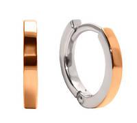 Серебряные серьги с золотыми пластинами ВЕСТА, фото 1