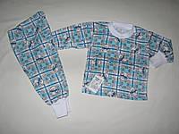 Пижама Клетка рост 86см