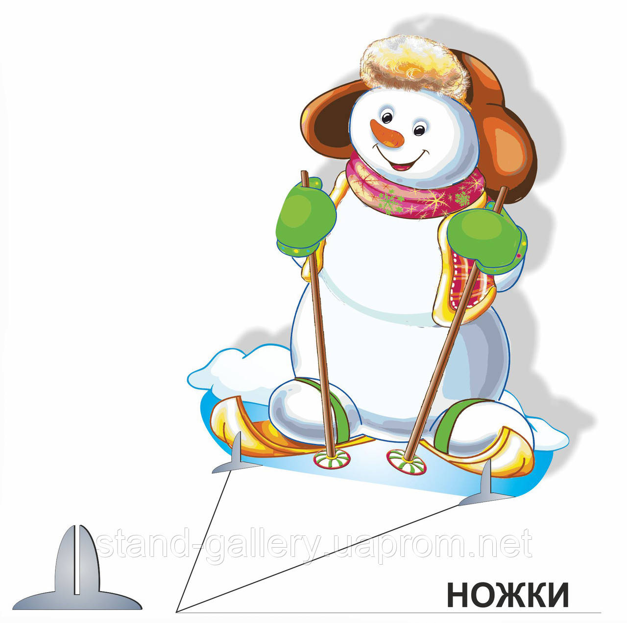 Декорация Снеговик