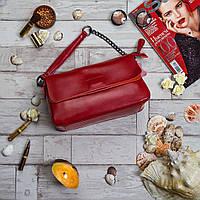 Сумка натуральная кожа ss25827 кожаные сумки в красном цвете, фото 1