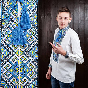 Сорочка - вишиванка для чоловіків з довгим рукавом Назар, фото 2