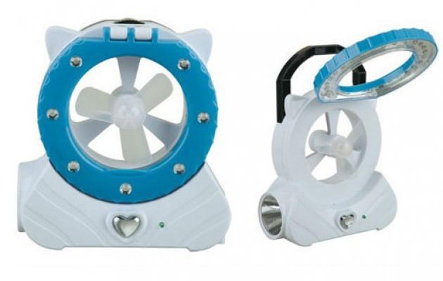 Компактный вентилятор с питанием от аккумулятора + фонарь 5822 F