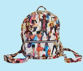 Яркий городской рюкзак малого размера.(12273)