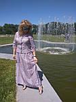 Костюм женский  прошва кос 002-3, юбка в пол и жакет лен ., фото 2