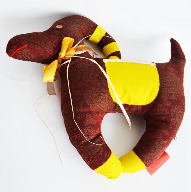 подушка коза декоративная