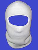 """Шапка-маска """"Балаклава"""" зимняя (двойная вязка) белая"""