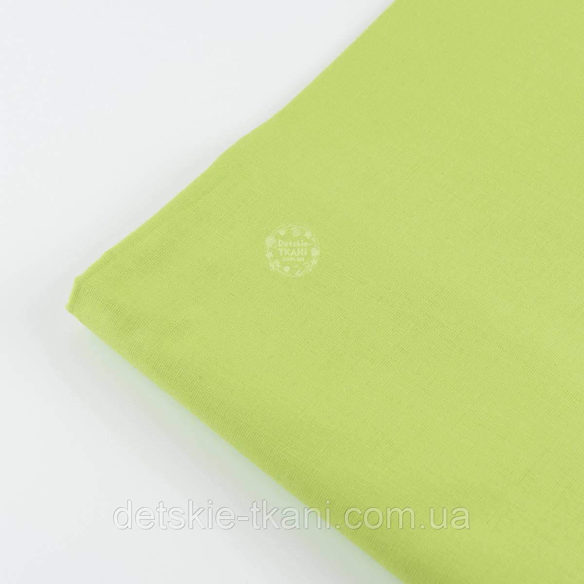 Лоскут ткани №808а светло-зелёная