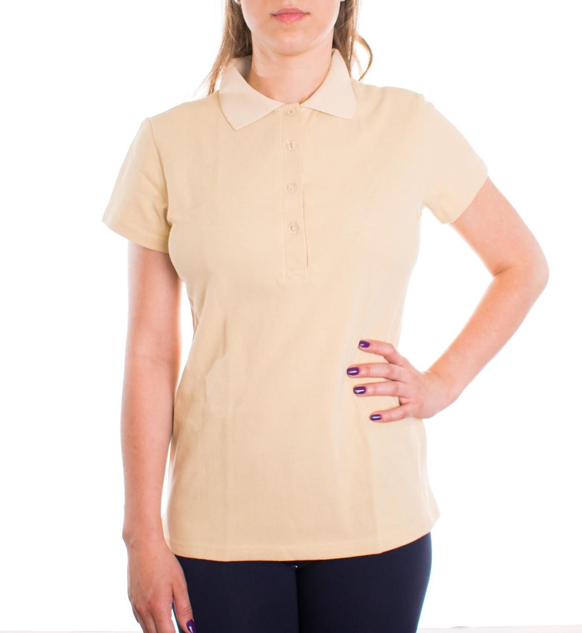 Bono Женская футболка поло бежевая 400159