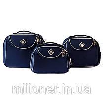 Сумка кейс саквояж Bonro Style (средний) синий, фото 2