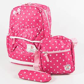 Школьный/прогулочный рюкзак для девочек 3 в 1 - розовый - 6-8325-2