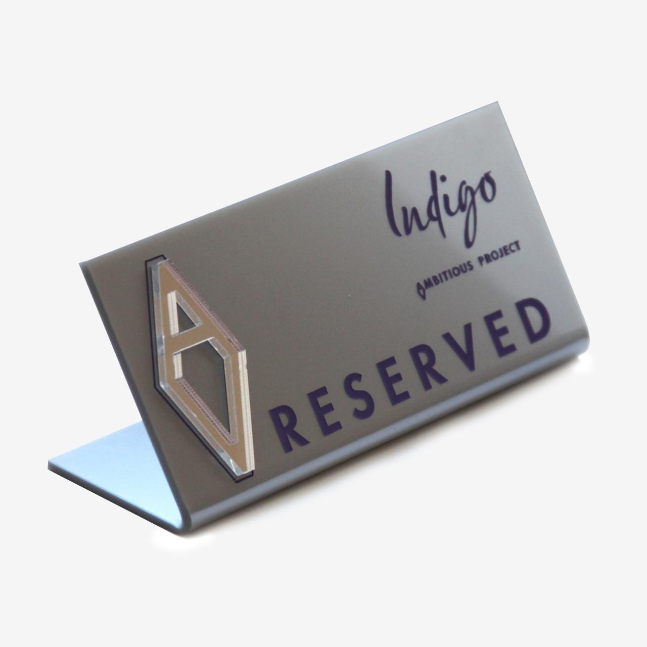 Изготовление таблички на стол