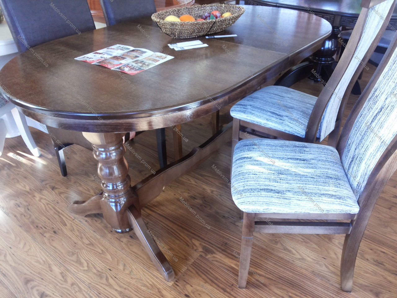 Стол на кухню Говерла Микс мебель, цвет  темный орех
