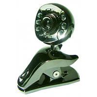 USB веб камера с подсветкой и микрофоном C-31 web-cam, PC Camera камера прищепка