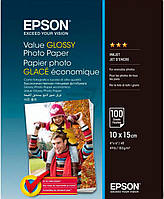 Бумага Epson Value Glossy Photo Paper 10х15 см 100 л. C13S400039