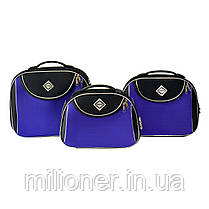 Сумка кейс саквояж Bonro Style (средний) черно-т,фиолетовый, фото 2